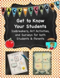 Get to Know Your Students Back to School Activities