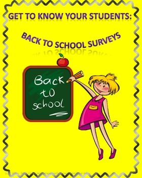 Get to Know Your Students: Back to School Surveys
