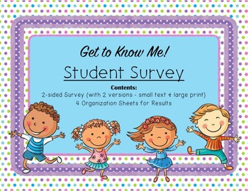 Get to Know Your Students - Survey