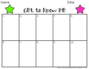 Get to Know Your Students Task Cards