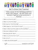 Get to Know Your Teacher Beginning of School Activity!