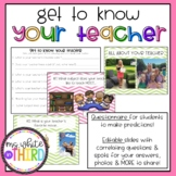 Get to Know Your Teacher (Editable)