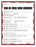 Get to Know Your Teacher Quiz