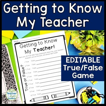Getting to Know Your Teacher and Students Activity - EDITABLE