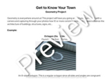 Get to Know Your Town - Geometry Project