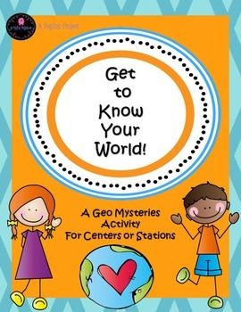 NO PREP! Get to Know Your World!--A Geography Mystery Centers Activity