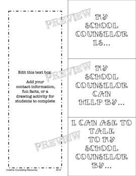 Get to Know my School Counselor Flip Flap Book