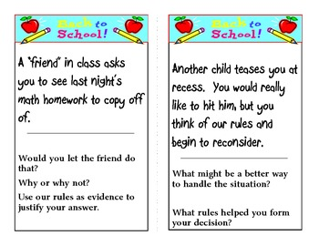 Get to Know our Class Rules Task Cards