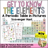 Periodic Table Elements in Pictures Scavenger Hunt Digital Distance Learning