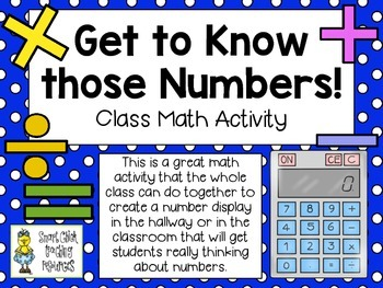 Get to Know those Numbers! ~ A Class Math Activity Display ~ FREE!