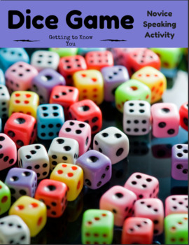 Get to Know you Dice Activity (differentiated)