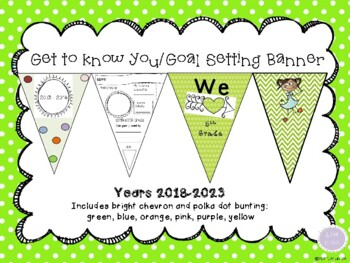 Get to Know you /Goal Banner for Classroom