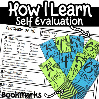 All about Me Student Self Evaluation Checklist Data Gatherer