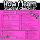 Student Self Evaluation Checklist Data Gatherer