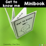 Get to know me MiniBook - Back to School activity