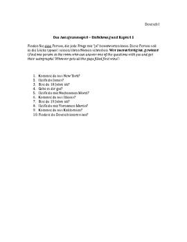 Get-to-know-you Autogrammspiel