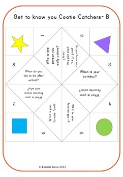 Get-to-Know You Cootie Catchers: A Back-to-School Ice Breaker Activity