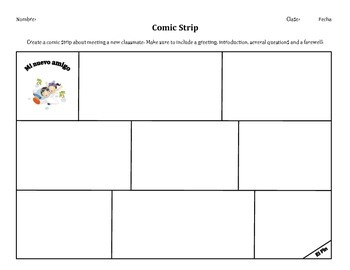 Get to know you comic strip