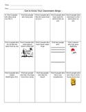 Get to know your classmate ice breaker - Bingo