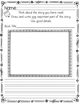 Common Core Reading Journal Activities For Kindergarten & First Grade