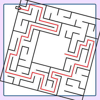 Get to the Center Mazes with Solutions Clip Art Set for Commercial Use