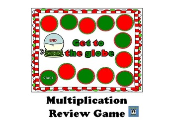 Get to the Globe - Multiplication Review Game