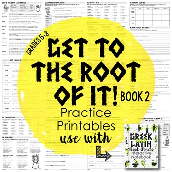 Greek and Latin Root Words {Book 2}