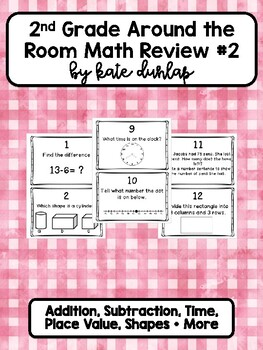 Get up and Review! Math Part 2!