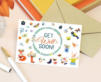Get Well Soon Card Printable Card By Mokileart Tpt