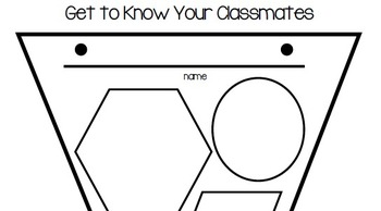 Get to know your classmates! Glyph, follow directions, first day activity