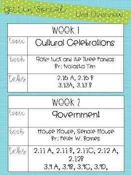Gettin' Social Unit 5- Cultural Celebrations and Government