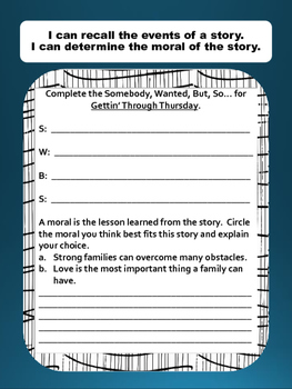 Gettin' Through Thursday Literacy Plan