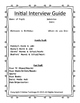Initial Interview Guide: Getting Acquainted