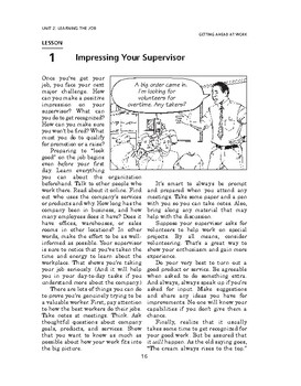Getting Ahead at Work: Learning the Job-Impressing Your Supervisor
