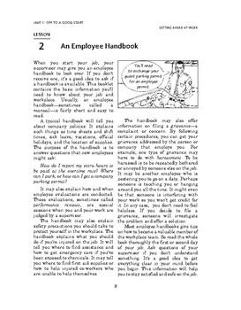 Getting Ahead at Work: Off to a Good Start-An Employee Handbook