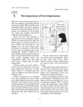 Getting Ahead at Work: Off to a Good Start-The Importance of First Impressions
