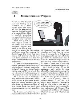 Getting Ahead at Work: Succeeding on the Job-Measurements of Progress