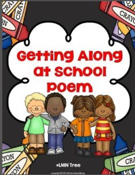 Getting Along At School Poem and Writing Activity