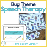 Speech and Language Bug Themed Therapy Pack for Mixed Groups