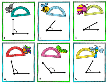 Measuring Angles Using a Protractor Game - 30 Task Cards