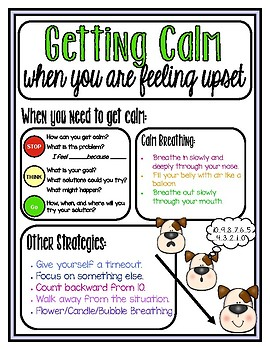 Getting Calm When You are Feeling Upset (Adapted from Open Circle)