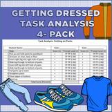 Getting Dressed Task Analysis ABA 4 Pack (Jacket, Pants, Shirt, Socks / Shoes)