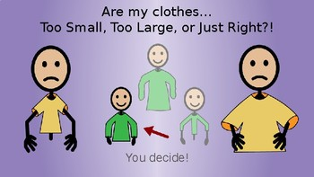 Getting Dressed- do your clothes fit? (life skills, special ed, autism)