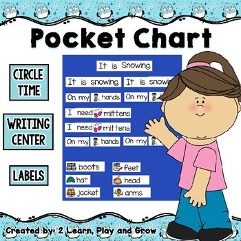 Getting Dressed for Winter Posters, Pocket Chart and Emergent Reader