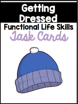 Getting Dressed for the Seasons Sequencing Task Cards {Boy