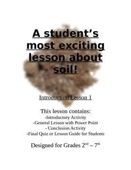 Getting Excited About Soil Lesson Plan
