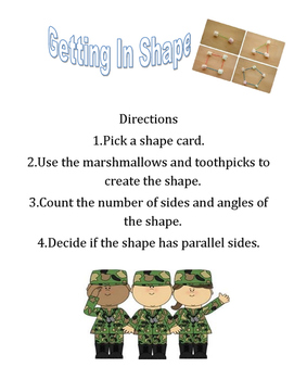 Getting In Shape Geometry Activity