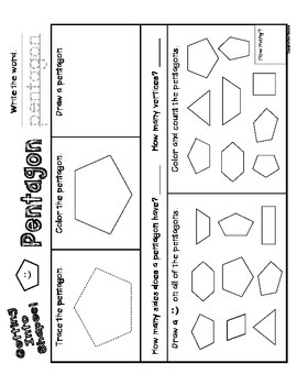 Getting Into Shapes Worksheets