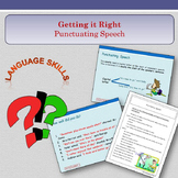 'Getting It Right' - Punctuating Speech