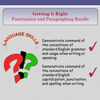 'Getting It Right' - Punctuation and Paragraphing Bundle